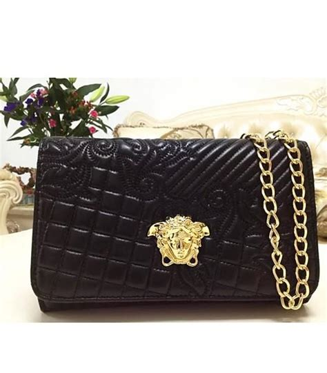 Versace Embroidered Shoulder Bag by Replica Versace Embroidered Lambskin Shoulder Bag 2832 In