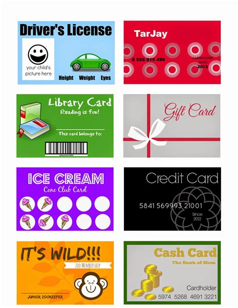 Resturant Gift Card - elegant crafts printable pretend play cards for kids