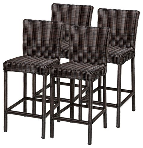 tropical style bar stools 4 rustico barstools w back tropical outdoor bar