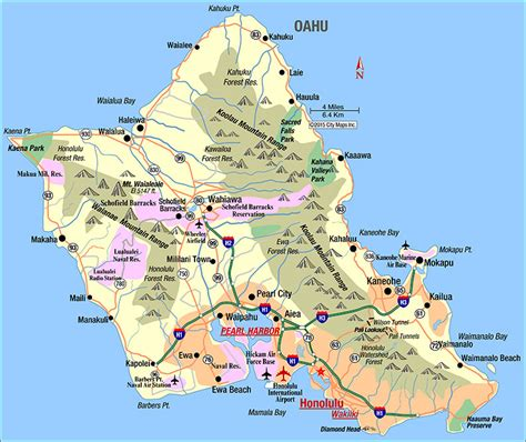 printable map honolulu honolulu map online map