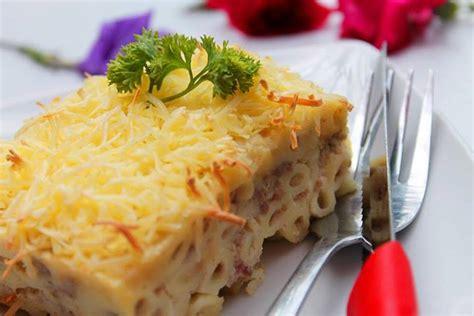 Makaroni Schotel Smoked Beef resep membuat macaroni schotel lezat ala rumahan kuliner123