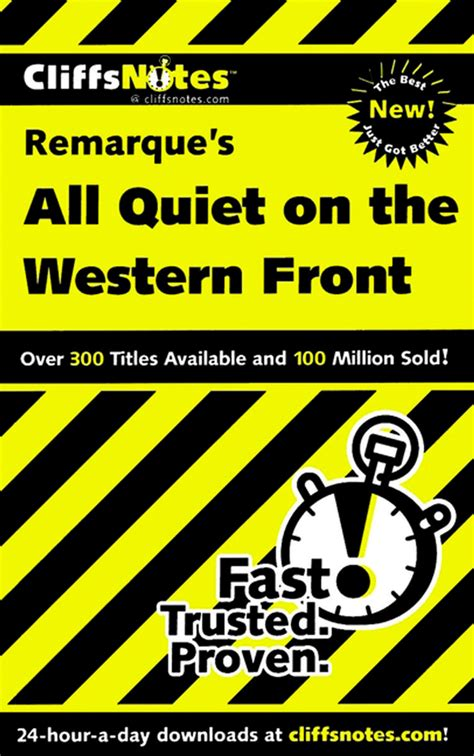 all on the western front book report cliffsnotes on remarque s all on the western front