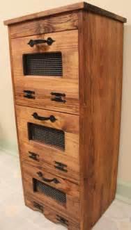 Cabinet Keeper Rustic Vegetable Bin Potato Storage Cupboard Primitive