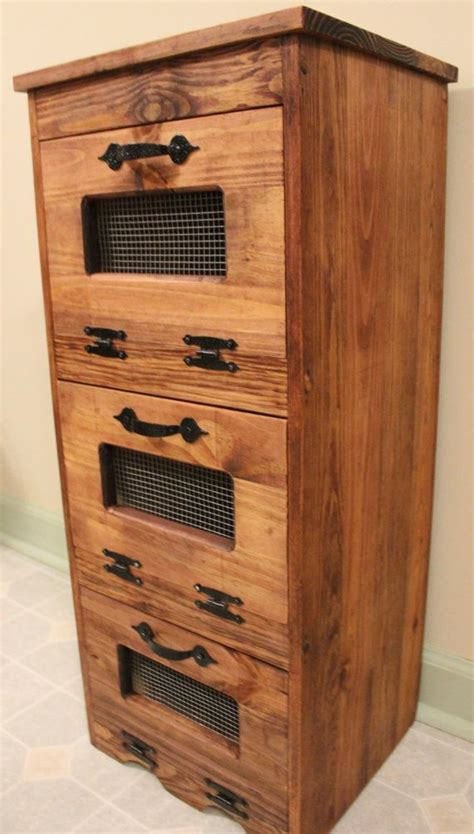 vegetable bin potato storage rustic cupboard primitive
