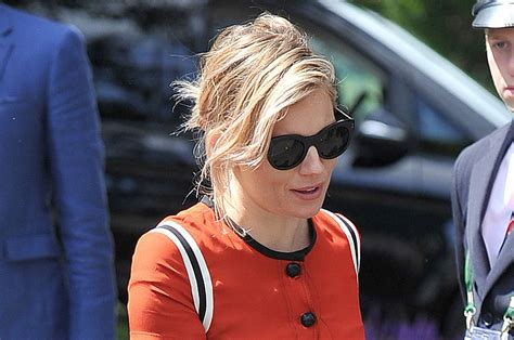 apple watch commercial actress orange dress sienna miller is an orange beauty at wimbledon sienna