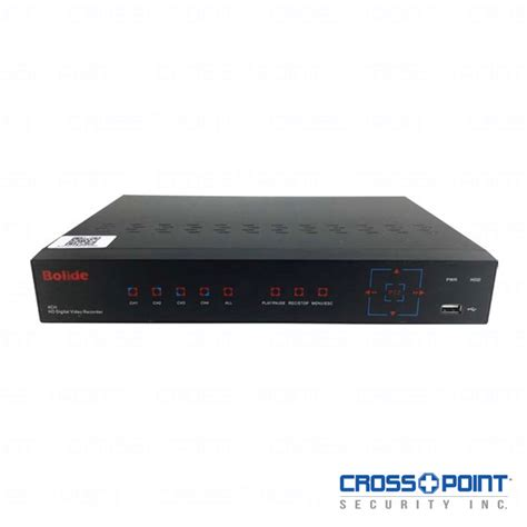 Honeywell Help Desk by 4 Channel 1080p Bolide Dvr Cross Point Security Inc