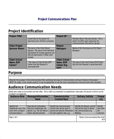 Project Plan Template 10 Free Word Pdf Document Downloads Free Premium Templates Project Communication Plan Template