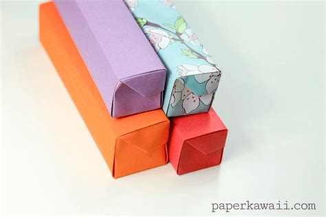 How To Make A Origami Pencil - origami pencil box tutorial 06