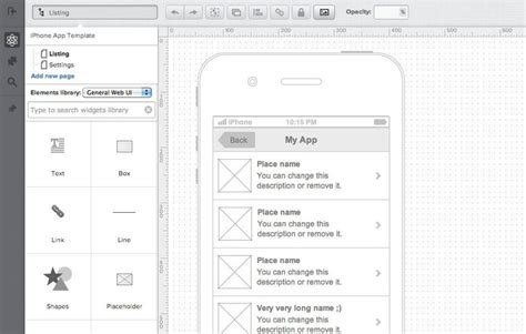 uxpin pattern library 20 excellent wireframing tools for mobile