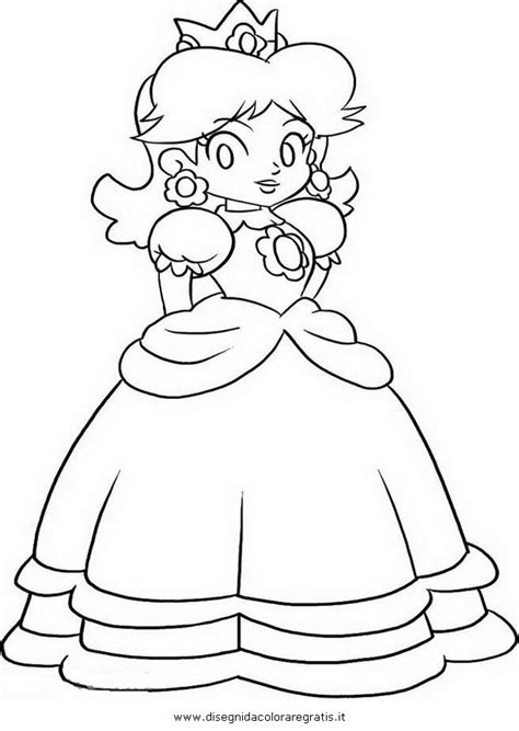 princess daisy coloring pages to print coloring pages