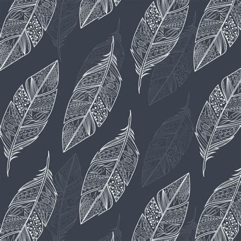 feather background outlined feathers background design vector free