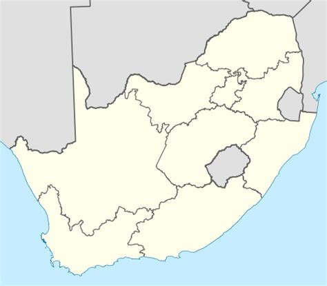 south africa map provinces west