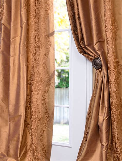 silk gold curtains chai brown gold silk curtain traditional curtains