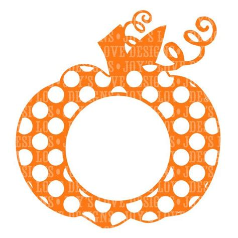 monogram pumpkin templates monogram polka dot pumpkin svg and dxf digital