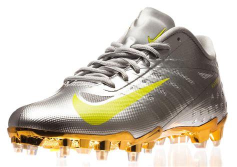 gold football shoes gold nike talon elite football cleats st joseph