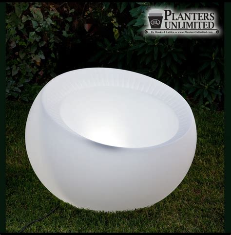 Lighted Planter by Pre Lit Polyethylene Planters Lighted Planters