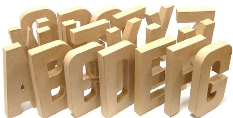sad up letters 3d stand up alphabet letters cardboard paper mache for