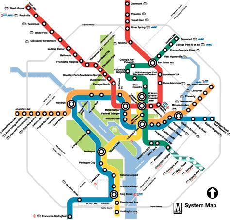 washington dc map subway washington dc and metro map