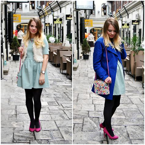 Dress Zara Vest julie p zara dress primark vest bershka shoes blue