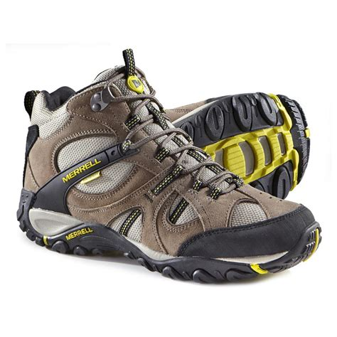 merrill mens boots merrell s yokota trail mid waterproof hiking shoes