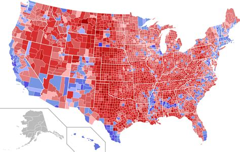 map of us electoral votes 2016 us presidential election map by county vote