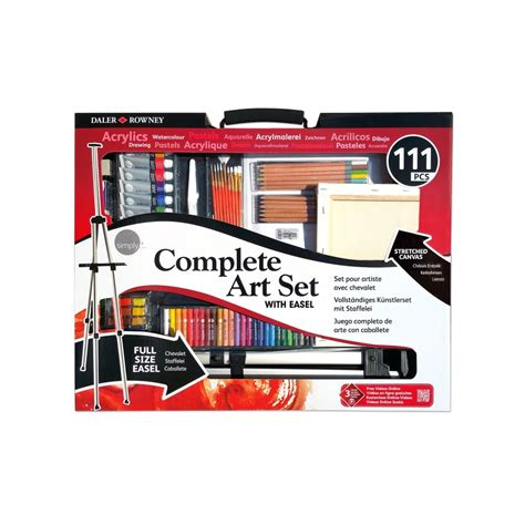 arts and craft sets for complete set with easel 111 pieces daler rowney from