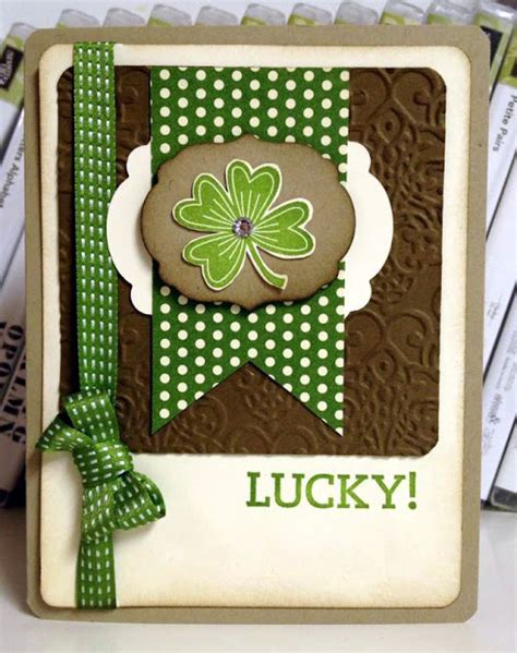 rubber st sets for card create with selene 3 12 feeling lucky st patricks day card