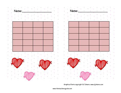 free printable individual incentive charts behavior incentive for february search results