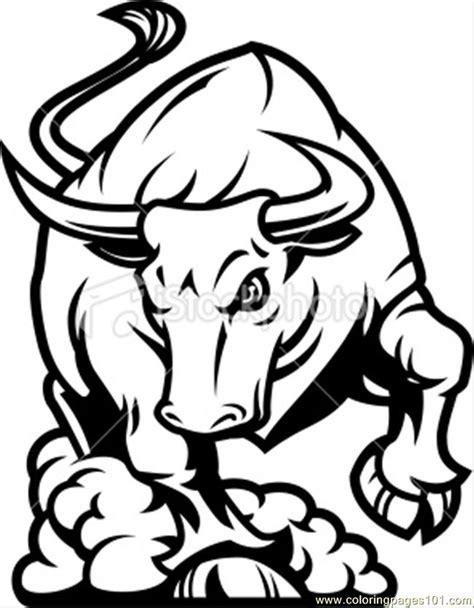 Free Coloring Pages Of Bull Logo Bull Coloring Pages