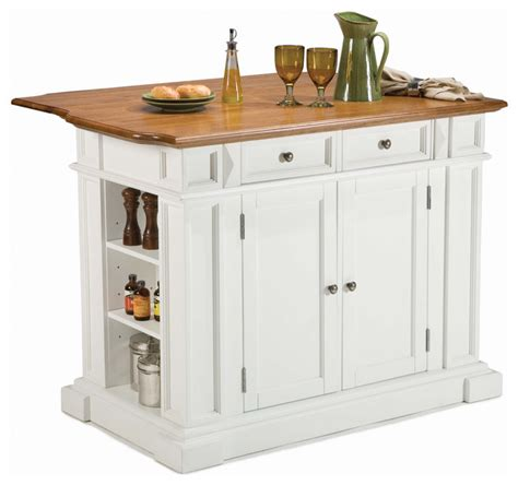 home styles kitchen island in rich multi step white