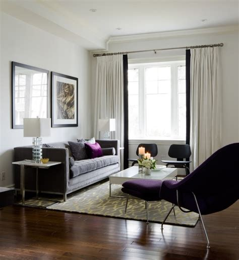 Purple Living Room Houzz Lockhart Living Room Purple Accents Contemporary