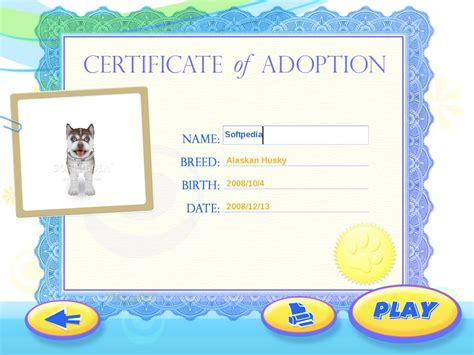 dog adoption certificate template quotes