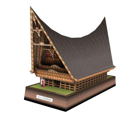 membuat paper craft quot rumah adat batak toba quot batak indonesia