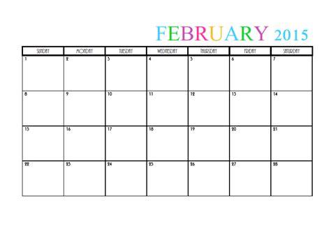 free calendar template february 2015 february 2015 calendar