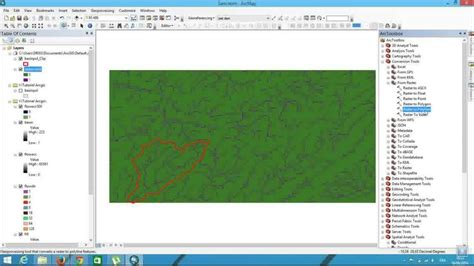 arcgis watershed tutorial watershed delineation using dem spatial analyst in