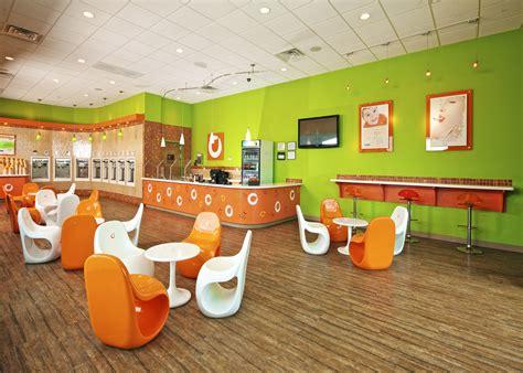 orange interior what is orange leaf a new frozen yogurt shop in