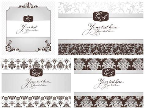 Wedding Card Vintage Vector by Vintage Wedding Invitations Vector Vector Graphics