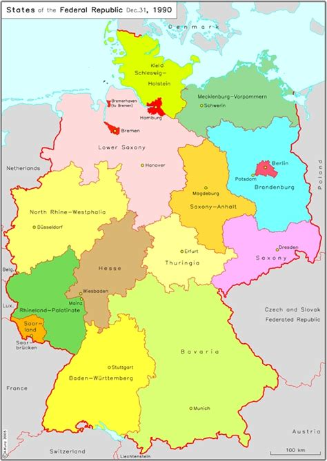 german states and capitals map germany capital map