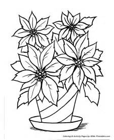 Poinsettia printable christmas coloring pages on free worksheets for