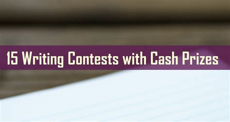 Cash Sweepstakes Contests - essay contests with cash prizes top sales resume exles