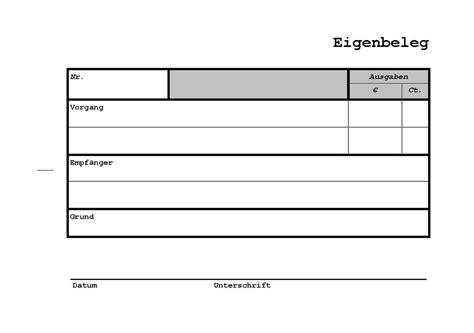 Muster Rechnung Auslagen Datei Eigenbeleg Einzeln Pdf
