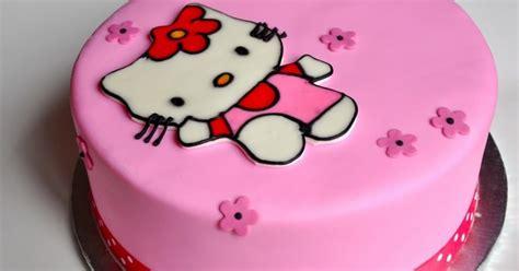 cara membuat kue ulang tahun terbaru cara membuat kue ultah hello kitty terbesar dan terbaru