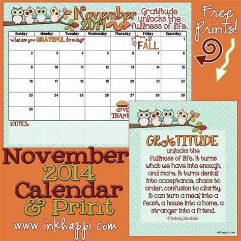 November 2014 Calendar November 2014 Calendar Is Here Inkhappi