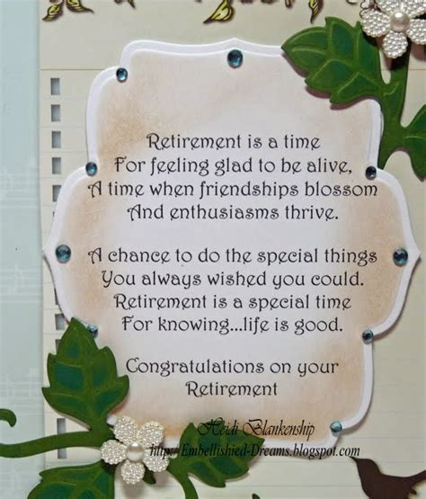 how to make a retirement card embellished dreams retirement card