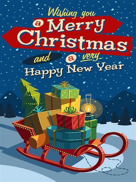 merry christmas   happy  year fidelity media