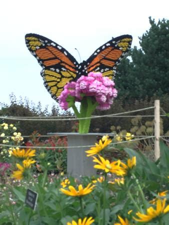 Landscape Arboretum Lego Exhibit Butterfly Made From 15 000 Legos By Kenney