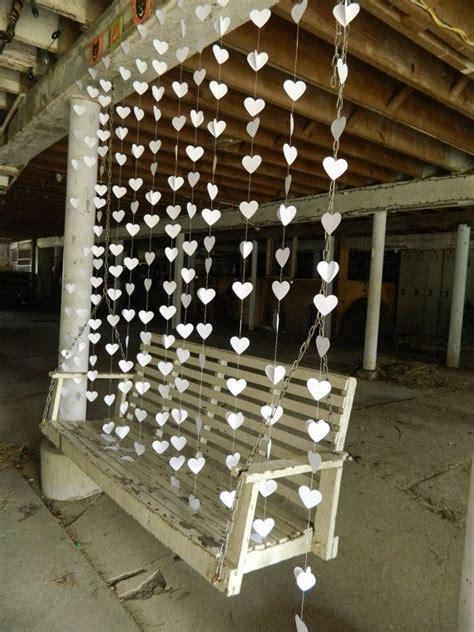Wedding heart garland / DIY Wedding Curtain / Curtain