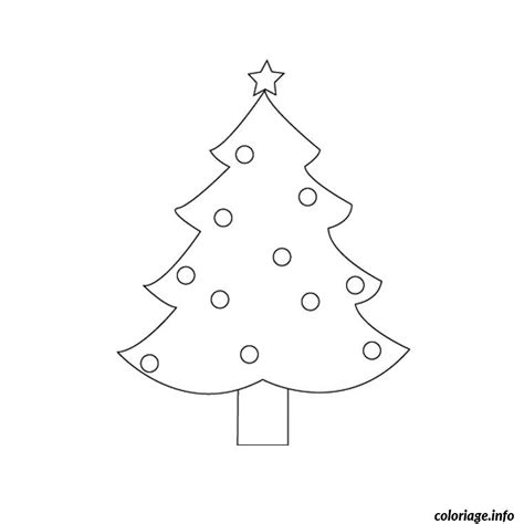 coloriage sapin de noel simple dessin