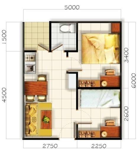 gambar denah rumah minimalis sederhana 1 lantai 3 kamar tidur