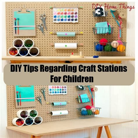 Papercraft Tips - diy tips regarding craft stations for children diy home